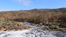 Perth Hills And Swan Valley Landscape, Tilt Down Shot Of Bells Rapids