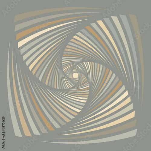 Fotografia A Green And Brown Vortex Pattern Design Background