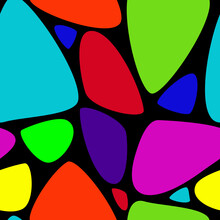 Colorful Abstract Background With Triangular Shapes
