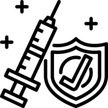 Vaccinated Outline Icon