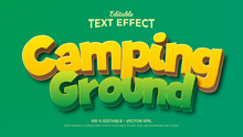 Text Effects, 3d Editable Text Style - Camping Ground
