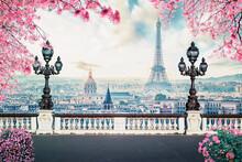 Romantic Paris City At Spring