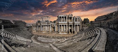 Fotografie, Obraz Merida Roman Theater, Mérida, Extremadura, Spain.