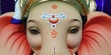 Closeup Of Statue Of God Ganapati