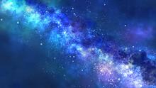 天の川が流れる夜空(ワイド)