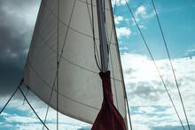 Sailing Ship Mast And Sky