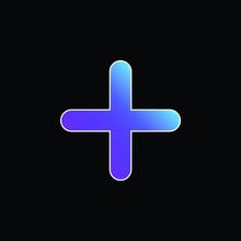 Addition Thick Symbol Blue Gradient Vector Icon