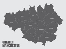 Greater Manchester Administrative Map