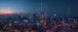 Leinwandbild Motiv abstract Smart city