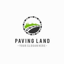 Paving Landscape Logo, Paving Vector