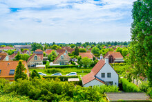 Beautiful Country Side Of Breskens City With Typical Dutch Houses, Zeeland, The Netherlands