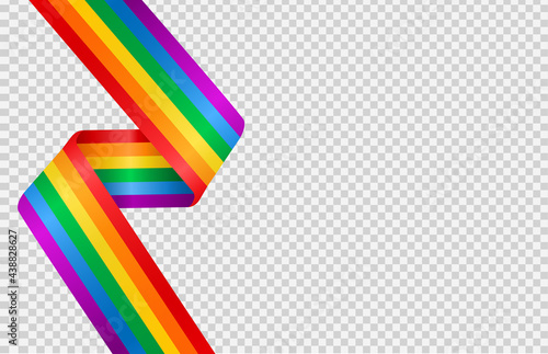Canvastavla Rainbow LGBT headband isolated on png or transparent  background, Symbol of LGBT