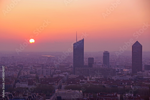Lyon au levé du soleil Fototapeta