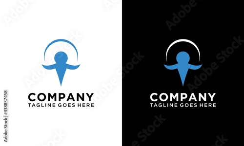 Fotografie, Obraz Abstract christian people logo design template vector