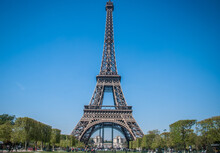 View Of The Eiffel Tower In Paris.