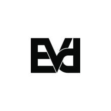 Evd Letter Original Monogram Logo Design