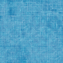 Seamless Bright Blue Blueprint Pattern For Textile And Print. High Quality Illustration. Technical Engineering Blue-print Draft Design. Graphic Motif For Background, Wallpaper, Or Surface Design Print