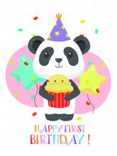 Lovely First Birthday Card Design