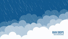 Clouds And Angles Rainfall Flat Background