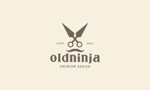 Ninja Tools  Vintage Logo Vector Icon Illustration Design