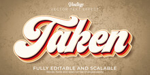 Vintage Text Effect, Editable Retro And Old Text Style