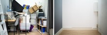 Before After Messy Room Declutter