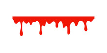 Spilled Blood. A Red Sticky Liquid That Resembled Blood Dripping. Halloween Crime Concept.