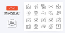 Mail Line Icons 256 X 256