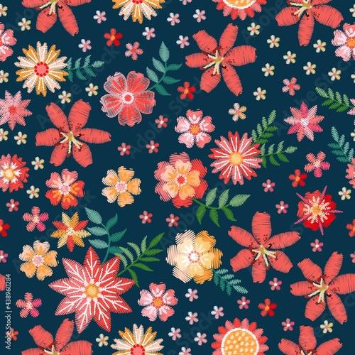 Tapety Etniczne  piekny-wzor-z-haftowanymi-kwiatami-kolorowy-kwiatowy-ornament-projekt-wektor