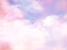 3D Pink Cloudy Sky