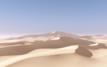 3D Abstract Desert Landscape Scene