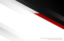 Design Template With Red Black Geometric Shapes
