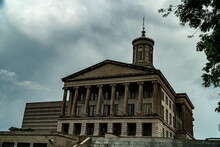 Tennessee State Capitol Building In Nashville, TN On A Cloudy Day