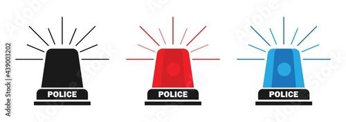 Fotografia police siren vector