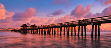 Old Naples Pier Florida - Sunshine States USA. Travel And Nature Concept.
