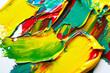 Leinwandbild Motiv Yellowish background of strokes of paint abstract texture