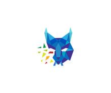 Lynx Wild Cat Geometric Shattered Logo
