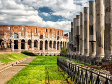 View Of Colosseum (Coliseum) From Roman Forum, Rome, Italy