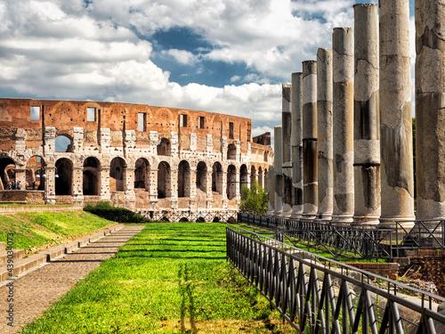 Fotografie, Obraz View of Colosseum (Coliseum) from Roman Forum, Rome, Italy