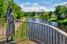 Konrad-Adenauer-Brücke With Sculpture In Gaggenau, Germany