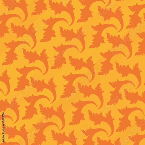 Fotografia orange damascus pattern