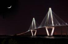 Arthur Ravenel, Jr. Bridge At Night, Charleston, SC