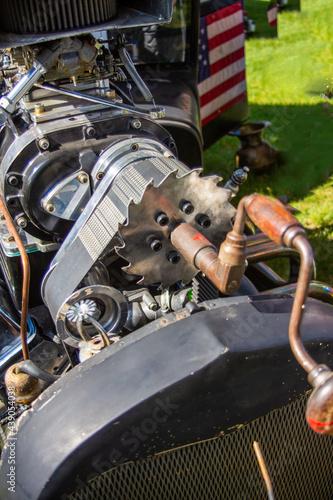Fotografie, Obraz rat rod engine close up