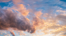 Colorful Clouds On Sky At Sunset