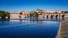 View  Of Prague Castle And Charles Bridge