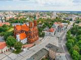 Białystok  z góry drona