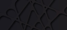 Black Abstract 3d Decorative Pattern Texture Background .