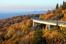 Lynn Cove Viaduct On The North Carolina Blue Ridge Parkway Displayed In Peak Leaf Color