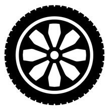Tire Shape Variant Vector Illustration