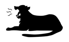 大口を開けてあくびする虎のベクターイラスト vetor Illustraton Of A Yawning Tiger